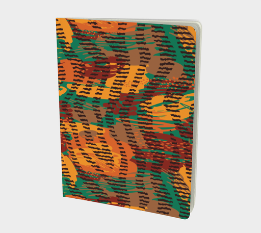 Abstract Animal Stripes Large Notebook