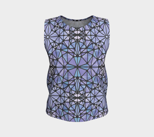 Purple and Blue Kaleidoscope Loose Tank Top