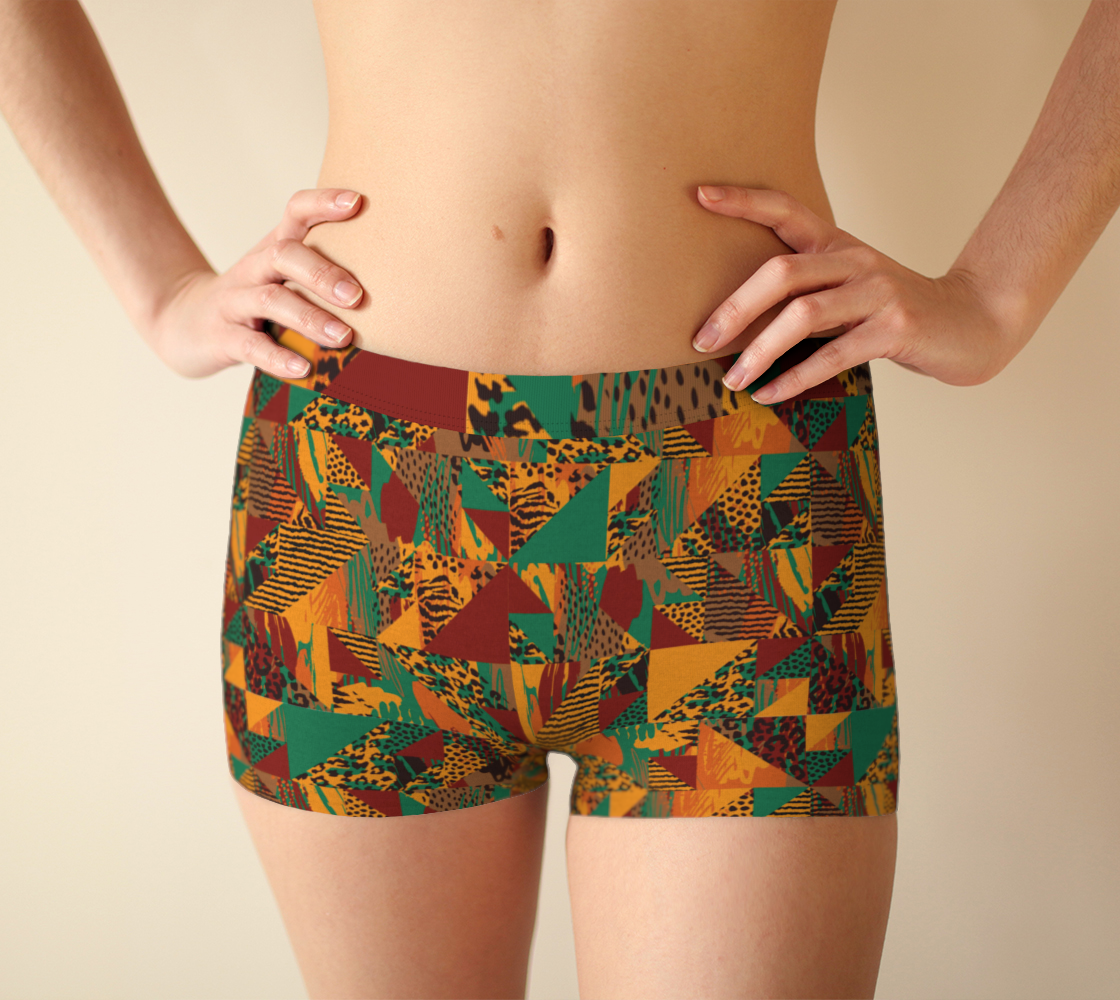 Abstract Safari Print Boyshorts