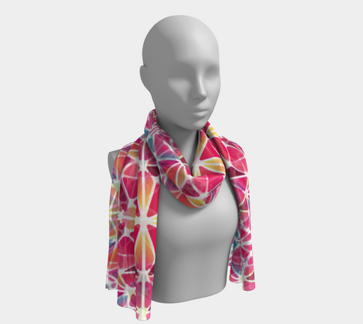 Pink & Blue Kaleidoscope Long Scarf
