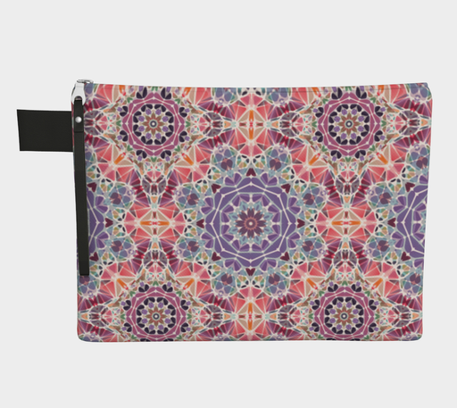 Purple and Pink Kaleidoscope Zipper Carry-All