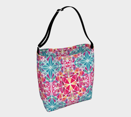 Pink and Blue Kaleidoscope Day Tote