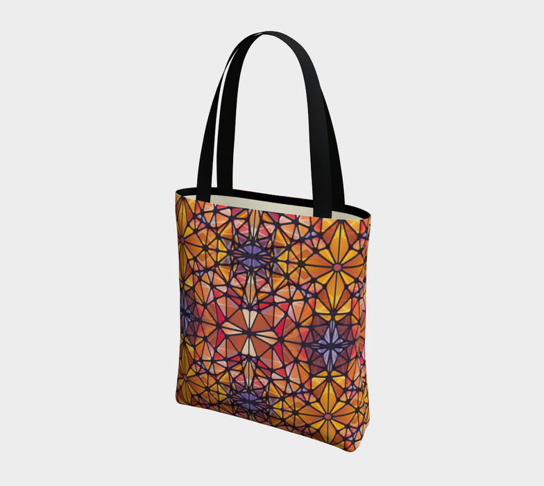 Amber Kaleidoscope Tote Bag