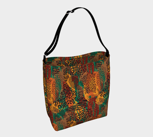 Safari Animal Print Mashup Day Tote