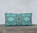 "Turquoise & Gray Kaleidoscope 24"" x 12"" Decorative Pillow Case"
