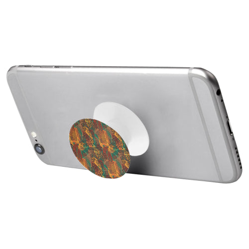 Safari Print Mashup - White Multi-function Cell Phone Stand (Set of 2)