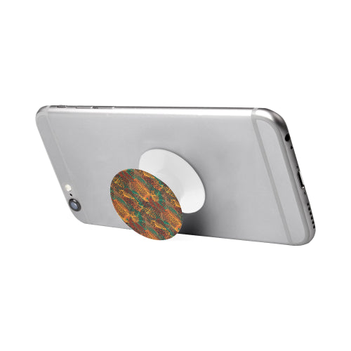 Safari Print Mashup - White Multi-function Cell Phone Stand