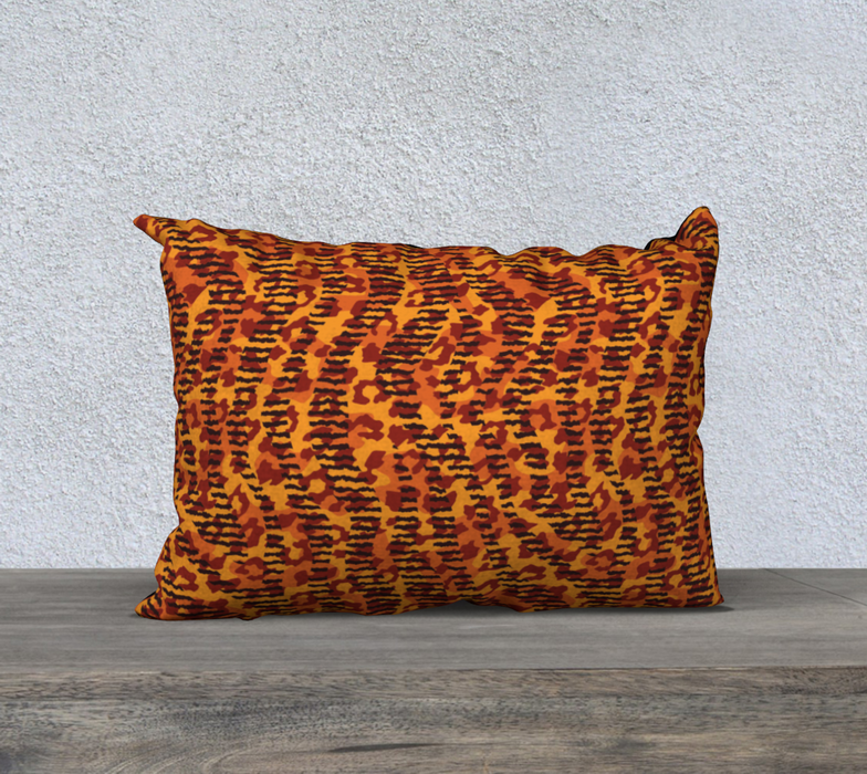 "Animal Stripes and Spots 20"" x 14"" Decorative Pillow Case"