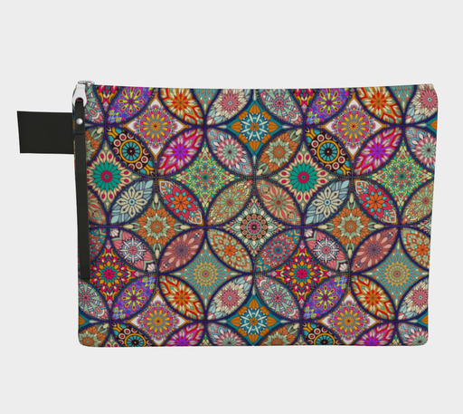 Vibrant Mandalas Zipper Carry-all