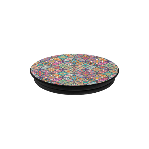 Vibrant Mandalas - Black Multi-function Cell Phone Stand (Set of 2)
