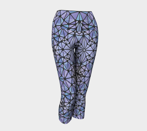 Purple and Blue Kaleidoscope Yoga Capris