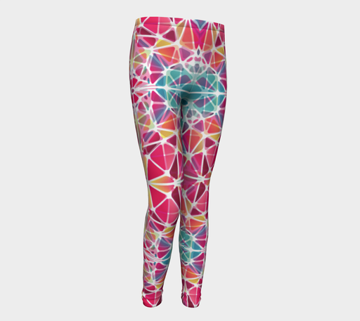 Pink and Blue Kaleidoscope Youth Leggings