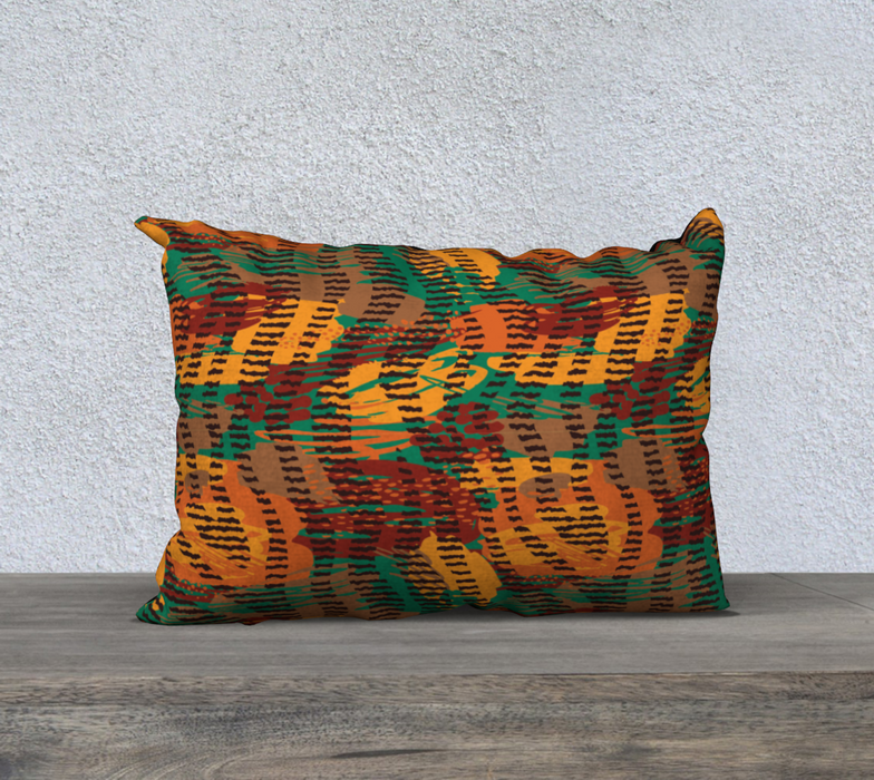 "Abstract Animal Stripes 20"" x 14"" Decorative Pillow Case"