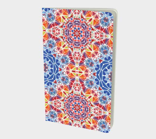 Blue and Orange Kaleidoscope Notebook - Small