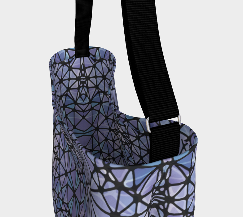 Purple and Blue Kaleidoscope Day Tote