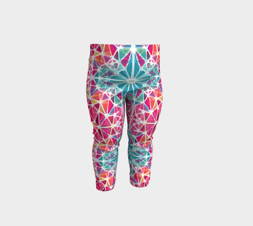Pink and Blue Kaleidoscope Baby Leggings