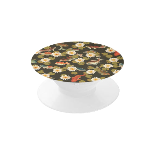 Koi & Lily Pads in Dark Water Multi-function Cell Phone Stand (Set of 2)