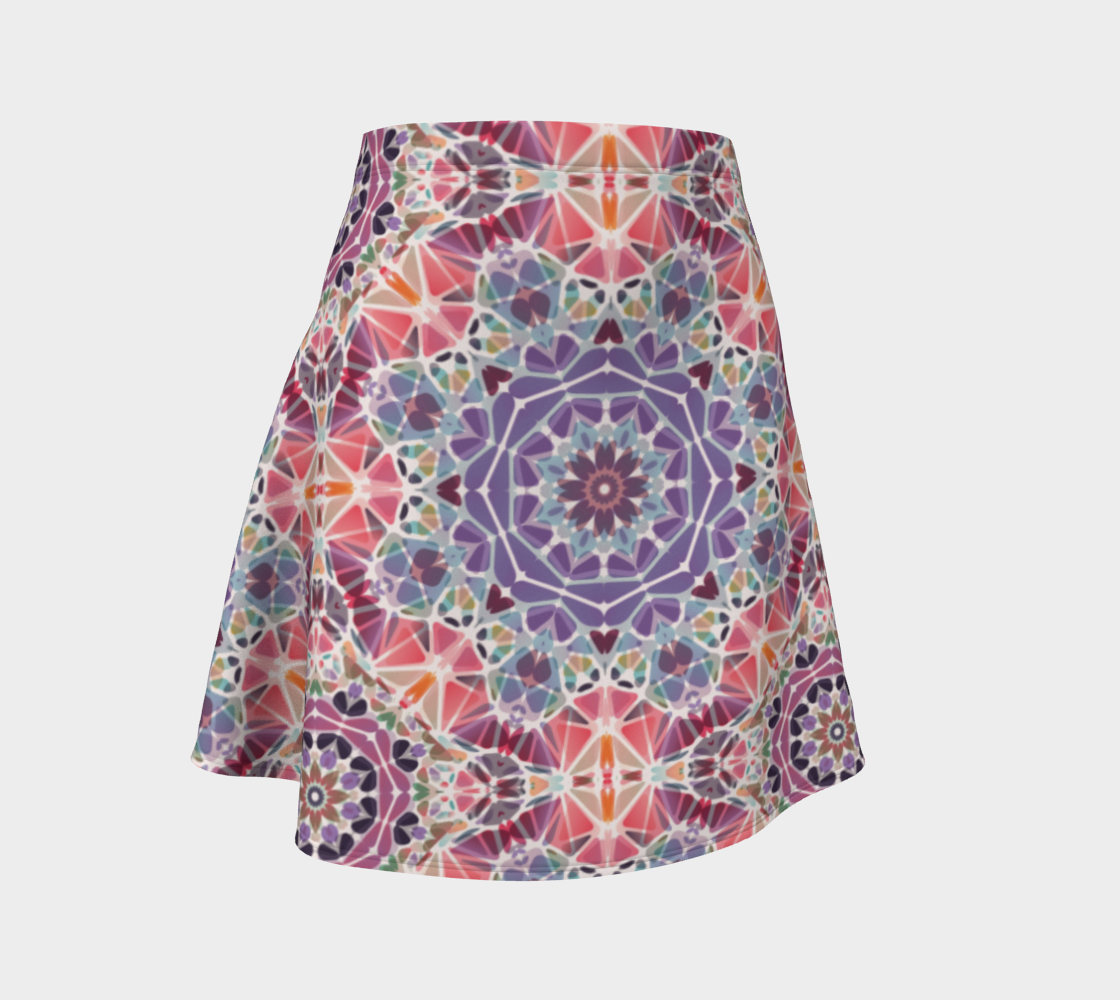 Purple and Pink Kaleidoscope Flare Skirt