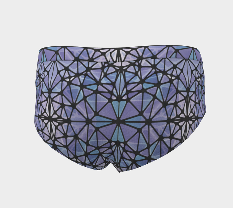 Purple and Blue Kaleidoscope Cheeky Briefs