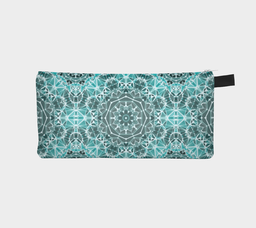 Turquoise & Gray Kaleidoscope Pencil Case