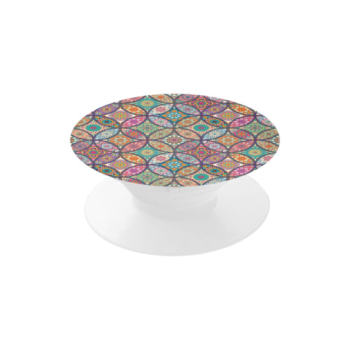 Vibrant Mandalas - White Multi-function Cell Phone Stand