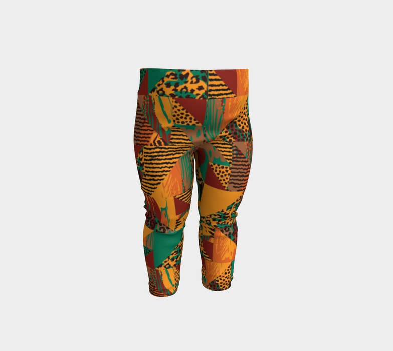 Abstract Safari Print Baby Leggings