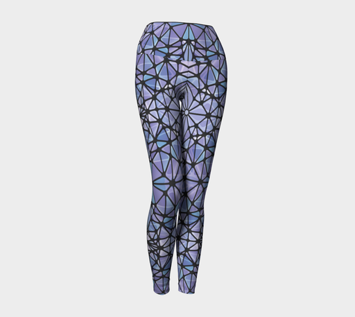 Purple and Blue Kaleidoscope Yoga Leggings
