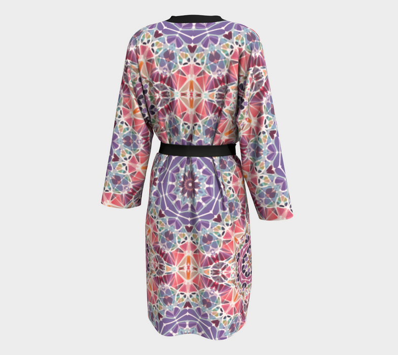 Purple and Pink Kaleidoscope Peignoir