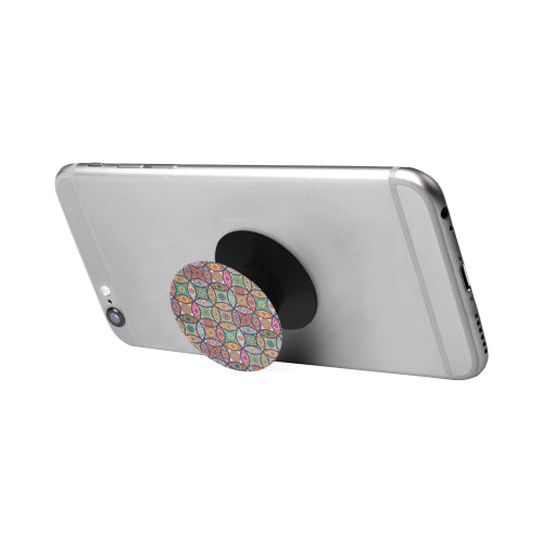 Vibrant Mandalas - Black Multi-function Cell Phone Stand