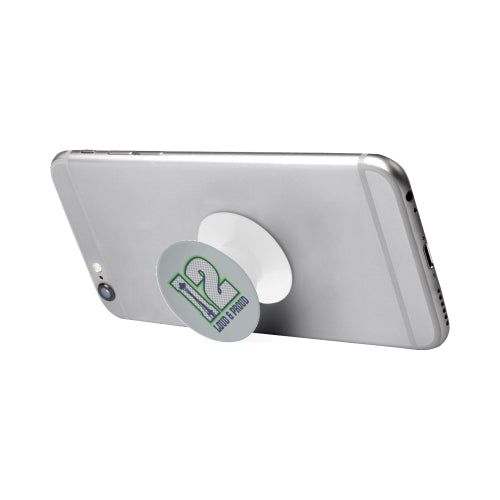 Seattle Seahawks Fan - 12 Loud & Proud - White Multi-function Cell Phone Stand