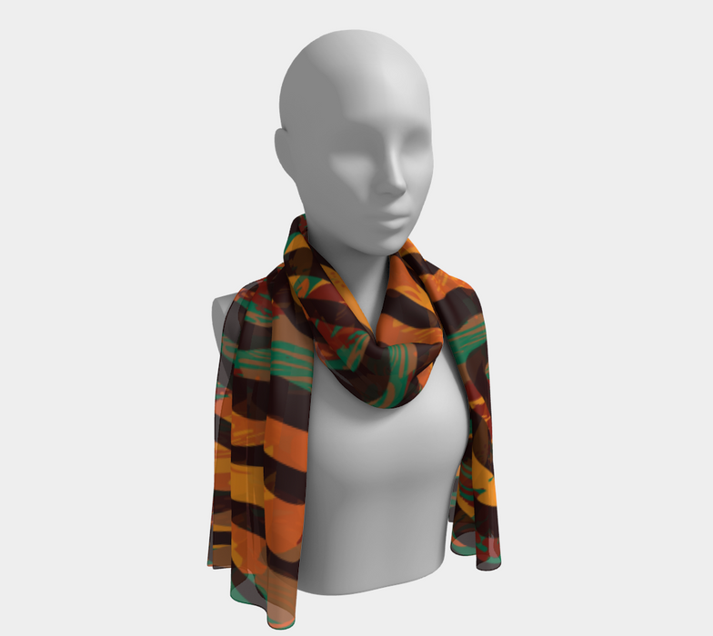 Colorful Animal Stripes Long Scarf