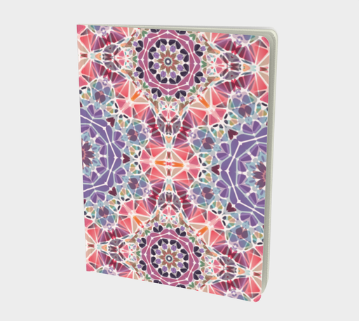 Purple and Pink Kaleidoscope Notebook - Large