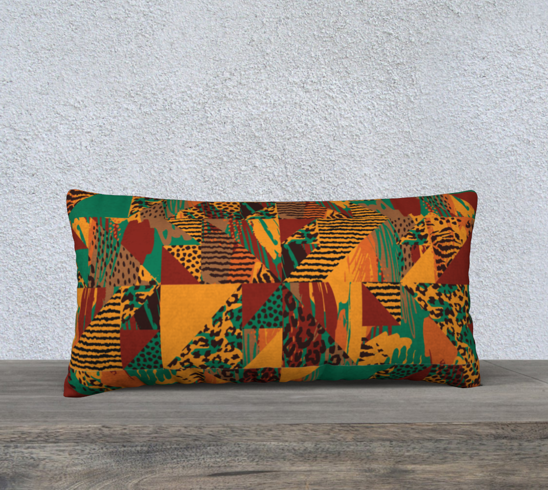 "Abstract Safari Print 24"" x 12"" Decorative Pillow Case"