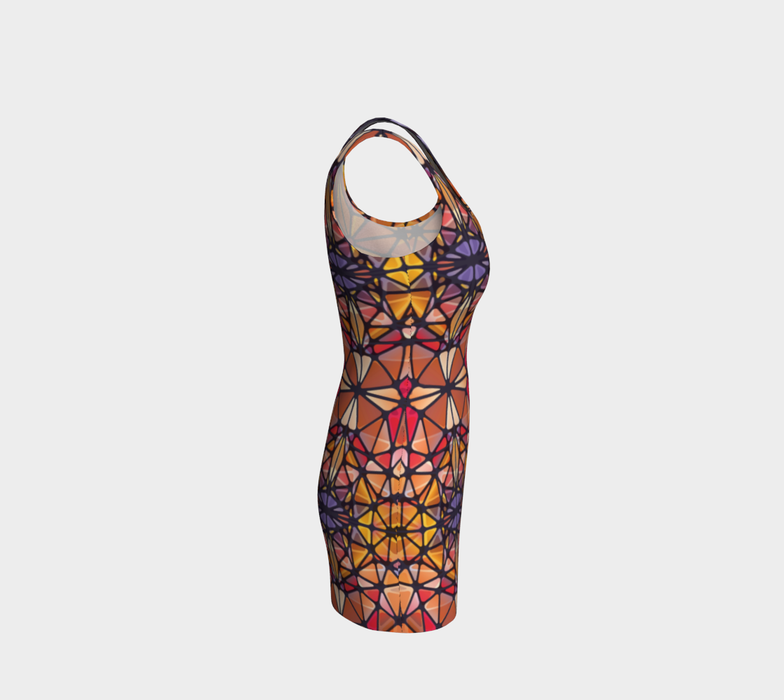 Amber Kaleidoscope Bodycon Dress