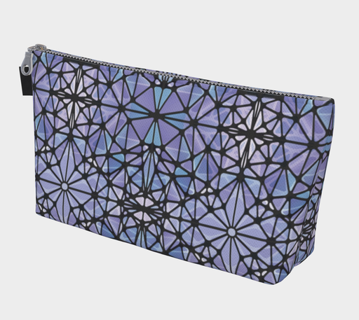 Purple and Blue Kaleidoscope Makeup Bag