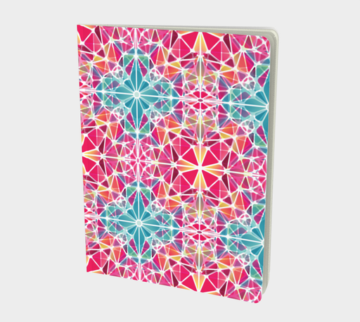 Pink and Blue Kaleidoscope Notebook - Large