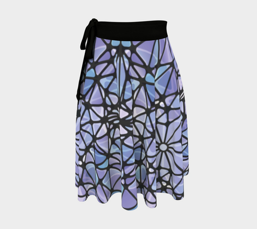 Purple and Blue Kaleidoscope Wrap Skirt