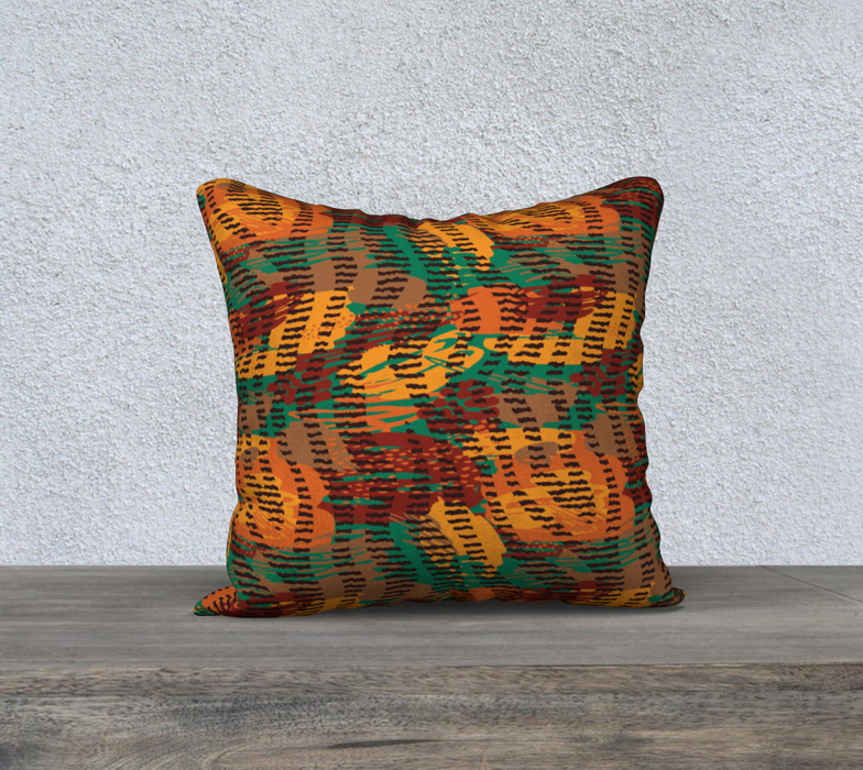 "Abstract Animal Stripes 18"" x 18"" Decorative Pillow Case"
