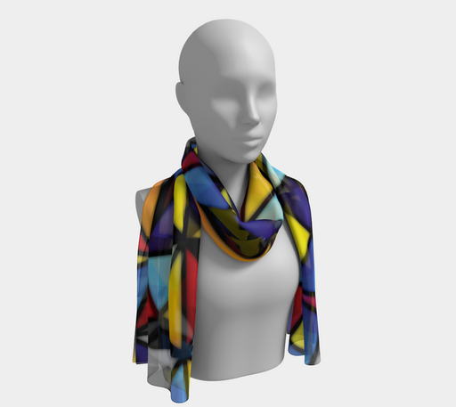 Triangular Mosaic Pattern Long Scarf