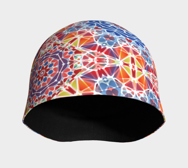 Blue and Orange Kaleidoscope Beanie