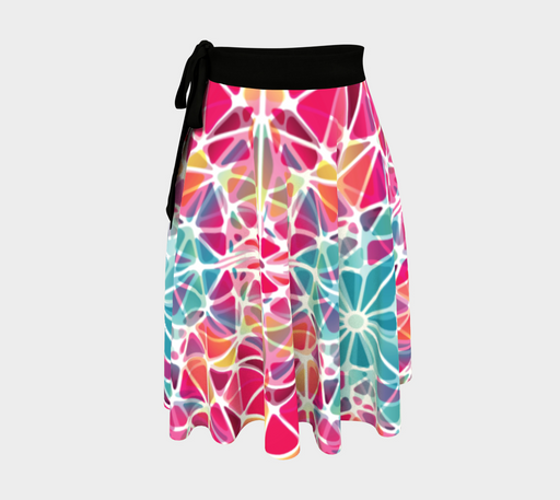 Pink and Blue Kaleidoscope Wrap Skirt