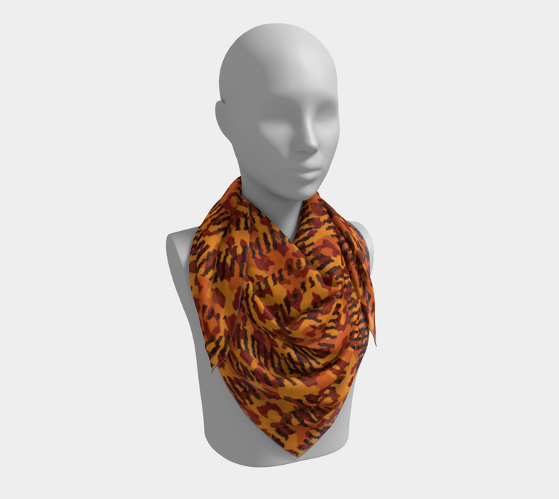 Animal Stripes and Spots Square Scarf