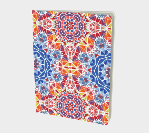 Blue and Orange Kaleidoscope Notebook - Large
