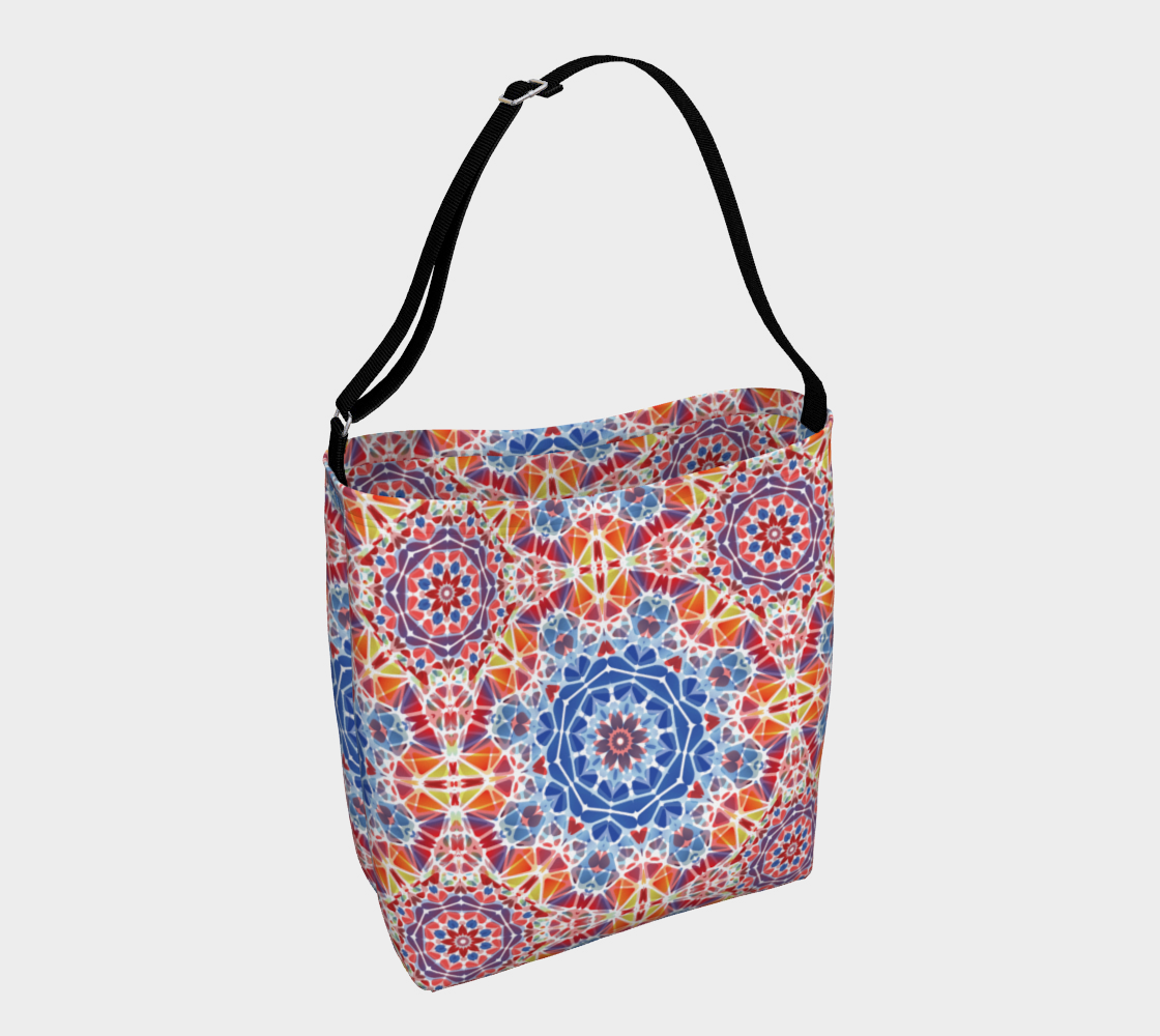 Blue and  Orange Kaleidoscope Day Tote