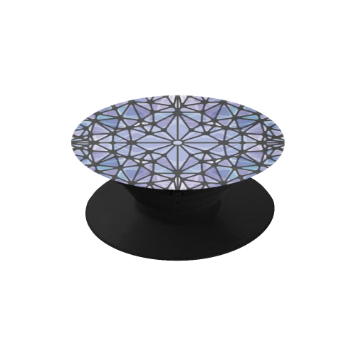 Purple & Blue Kaleidescope - Black Multi-function Cell Phone Stand