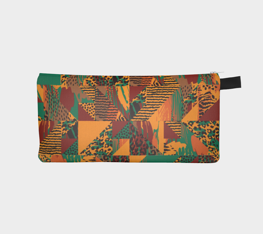 Abstract Safari Print Pencil Case