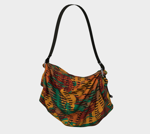 Abstract Animal Stripes Origami Tote