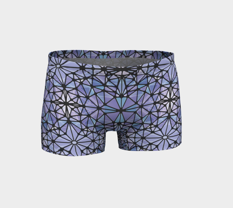 Purple and Blue Kaleidoscope Shorts