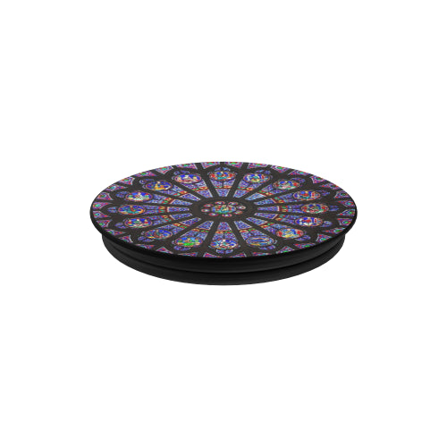 Rose South Window - Notre Dame - Black Multi-function Cell Phone Stand