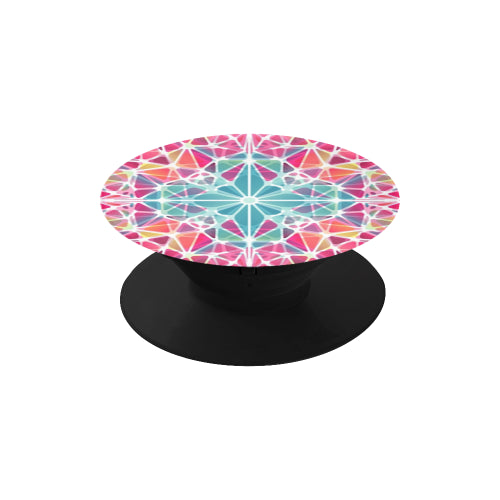 Pink & Blue Kaleidescope - Black Multi-function Cell Phone Stand